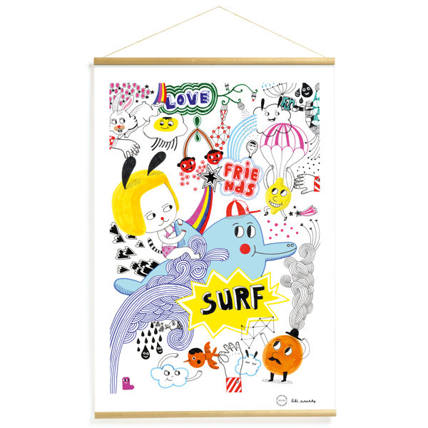 Djeco Surf's party poster 40x60