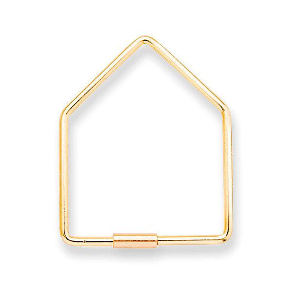 Sleutelhanger-home-goudkleurig