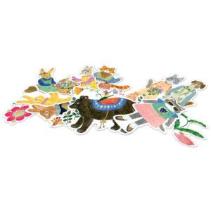Djeco lovely stickers Aiko Fukawa Personaliseer je brieven,kaften, agenda,notieboekjes of school spulletjes met deze mooie stickers. Ontworpen door de Japanese illustrator Aiko Fukawa voor het Franse merk Djeco. In het kartonnen doosjes zitten 50 verschillende papieren stickers. De grootste sticker is 7,3cm Leuk als cadeautje voor een verjaardagsfeestje.
