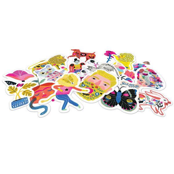 Djeco 50 lovely stickers Sarah Walsh Personaliseer je brieven,kaften, agenda,notieboekjes of school spulletjes met deze mooie stickers. Ontworpen door de Amerikaanse illustrator Sarah Walsh voor het Franse merk Djeco. In het kartonnen doosjes zitten 50 verschillende papieren stickers. De grootste sticker is 7,3cm Leuk als cadeautje voor een verjaardagsfeestje.