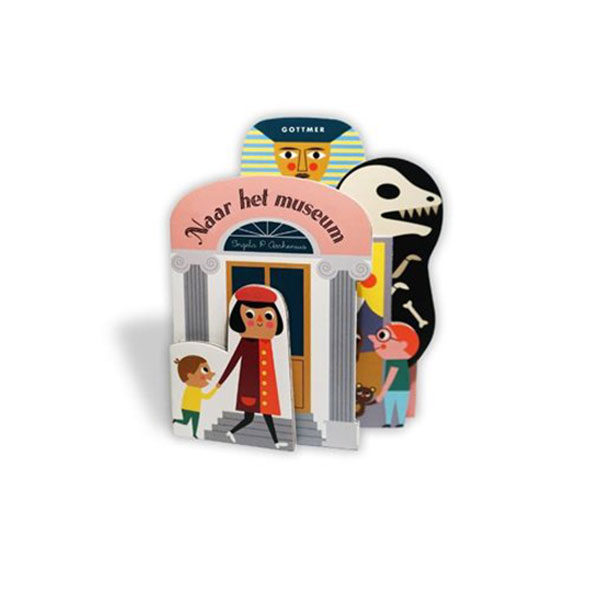 Naar het museum Reis mee met Ingela P Arrhenius en ontdek het museum! Op ontdekkingstocht Ga mee naar een museum, waar je allerlei mummies, standbeelden en fossielen kunt ontdekken! Je komt zelfs langs de Mona Lisa. Unieke vorm De pagina's hebben allemaal een andere vorm en worden steeds groter. Dit zorgt voor een bijzondere vorm en uitstraling. Het dikke karton kan prima tegen een stootje. Perfect om mee te spelen! 12 pagina's
