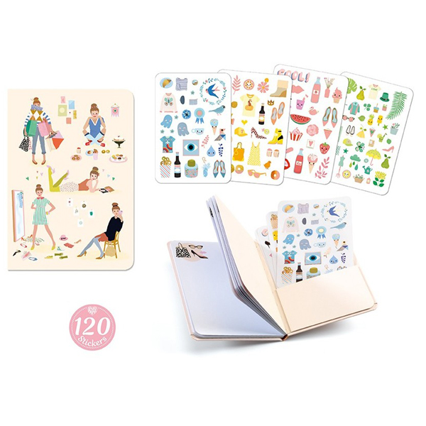 Djeco notitieboek en stickerboek Tinou Van het Franse merk Djeco is dit mooie notitieboek met 120 stickers. Het notitieboek Tinou heeft 78 blanco pagina's voor je notities en 120 leuke stickers om te versieren. Het Anna notitieboek is ook een aanrader.