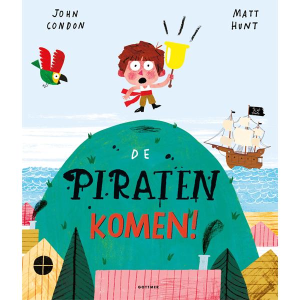 Snel, verstop je! De piraten komen eraan! Of toch niet? Tom kijkt altijd uit over de zee, om te kijken of er misschien piraten onderweg zijn naar het dorp. Maar altijd als hij denkt dat hij iets ziet en alarm slaat, is er niets aan de hand. Iedereen in het dorp gelooft niets meer van Toms waarschuwingen. Maar wat als er straks echt piraten aankomen? John Condon schreef een grappig verhaal met een wel heel onverwachte twist aan het einde. Matt Hunt maakte hiervoor zijn illustraties, met verf, krijt, pennen én een computer! 32 pagina's hardback