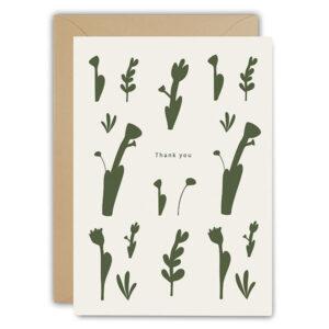 Thank you wenskaart Ted & Tone Gedrukt in Nederland op Paperwise papier, gemaakt van landbouwafval zodat er geen boom gekapt hoeft te worden. Dubbele wenskaart 10x15cm, inclusief envelop.