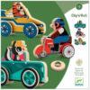 Djeco Clip'n Roll dieren op wielen vanaf 3 jaar Clip'n Roll is een set met 3 houten voertuigen op wielen. Al spelenderwijs kan je de wielen op de houten voertuigen klikken. Ideaal voor kinderen vanaf 3 jaar om de fijne motoriek te beoefenen. In de stevige opbergdoos zitten 3 voertuigen,het grootste voertuig is 16cm, het kleinste voertuig 11 cm. De mooie illustraties zijn van Ben Newman voor het Franse merk Djeco.