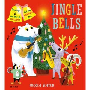 Jingle Bells vanaf 3 jaar Jingle bells, jingle bells, ga je met ons mee? Je hoort de belletjes van ver in de arrenslee. Een muzikaal kerstfeest Vier vrienden toveren hun instrumenten tevoorschijn en spelen het leukste kerstliedje aller tijden. Ze beginnen alleen, maar komen uiteindelijk samen in een prachtige feestelijke symfonie bij de grote kerstboom. Het boekje maakt prachtige muziek en heeft ook nog een stralende ster met lichtje. Net als 'Fijne verjaardag voor jou!' is ook dit prentenboek van Nicola Slater weer een feest voor oog en oor! Het kartonnen kleuterboek heeft 10 pagina's en is geschikt voor kinderen vanaf 3 jaar.