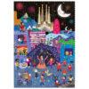 Londji Night & day in Barcelona puzzel 36 stuks vanaf 3 jaar Night & day in Barcelona is een dubbelzijdige puzzel met 36 puzzelstukken van het Spaanse merk Londji. Laat je inspireren en ontdek 1001 verhalen van de prachtige stad Barcelona. De mooie stevige kartonnen puzzel is geschikt voor kinderen vanaf 3 jaar. Verpakt in een stevige kartonnen hersluitbare doos. Illustraties zijn van Mariana Ruiz Johnson Afmeting puzzel: 23cm x 22,5cm Afmeting doos: 13cm x 17cm x 4,5cm