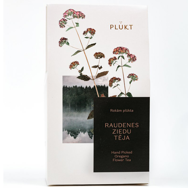 Oregano losse thee Oregano-thee bevat hele losse bloemen of Origanum vulgare. EFFECT: Oregano staat bekend om zijn charmante aroma. Niettemin wordt het gekenmerkt als kalmerende, ontstekingsremmende en slijmoplossende, spijsverterings- en gynaecologische effecten. Het bevat etherische oliën. Elke PLŪKT-thee is van nature kleurrijk en aromatisch omdat deze met de hand wordt geplukt in wilde Scandinavische weiden en bossen, waar kruiden meer geconcentreerd zijn dan gecultiveerde en vervolgens op natuurlijke wijze worden gedroogd door de zon en windenergie. -> gecertificeerd biologisch -> veganistisch, vegetarisch -> met de hand geplukt in biologische wilde weiden en bossen van Noord-Europa -> ethisch merk Cafeïne vrij GGO-vrij Verpakking: Witte kartonnen verpakking met beschermende binnenverpakking, gewicht 35 g. Afmeting verpakking: 9,6cm x 5cm x 17cm