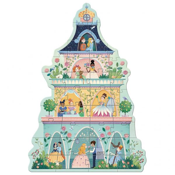 Djeco puzzel prinsessen toren 36 stuks vanaf 4 jaar Van het Franse merk Djeco is deze prachtige prinsessen toren puzzel. Maak met de 36 kartonnen puzzelstukken een grote puzzel van maar liefst 90cm groot. De mooie illustraties zijn van Marie Desbons voor het Franse merk Djeco. De puzzel is geschikt voor kleine puzzelaars vanaf 4 jaar en ook fijn als verjaardagscadeautje.